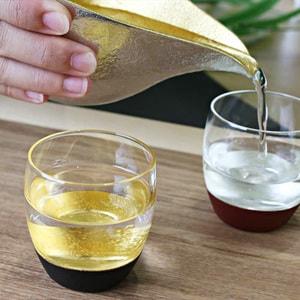 [Set] [Exclusive box] Pair Lacquer sake cup / Silver & Black + Gold & Black / Toba Shitsugei_Image_2
