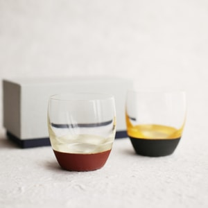 [Set] [Exclusive box] Pair Lacquer sake cup / Silver & Red + Gold & Black / Toba Shitsugei