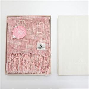 麻とボタニカルオーガニックの節糸マフラー ローズ(ギフトボックス入り)/kobooriza _Image_3