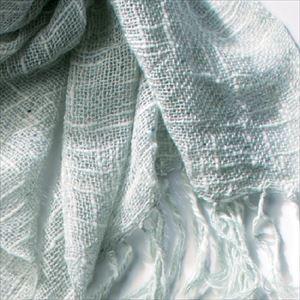 麻とボタニカルオーガニックの節糸マフラー クチナシ(ギフトボックス入り)/kobooriza _Image_1