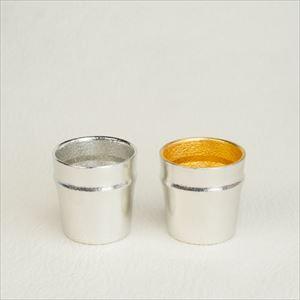 [Set] Pair Guinomi/ Bamboo (Gold & Silver)/ Sake cup/ Nousaku_Image_1