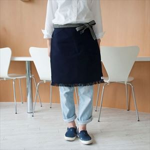 Maekake / Japanese waist apron / Navy / Short / Anything