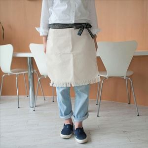 Maekake / Japanese waist apron / Cream / Short / Anything
