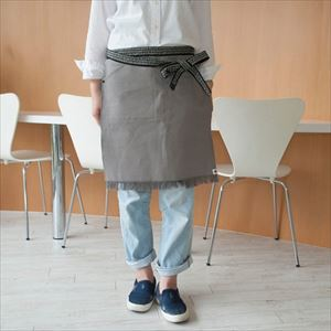 Maekake / Japanese waist apron / Gray / Short / Anything