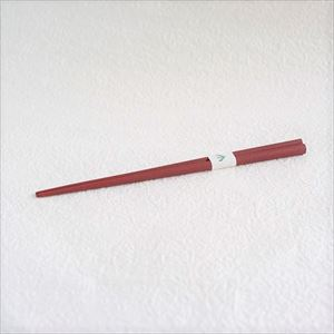 [Exclusive box] Oval lacquered chopsticks / Makiji / Akakuchi-shu (Red)/ Wajima Kirimoto