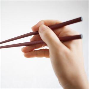 箸/蒔地楕円箸 赤口朱(化粧箱入)/輪島キリモト_Image_2
