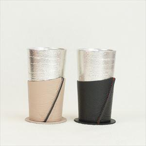 【セット】ビアカップ-シラカバセット ベージュ&ブラック/能作_Image_1