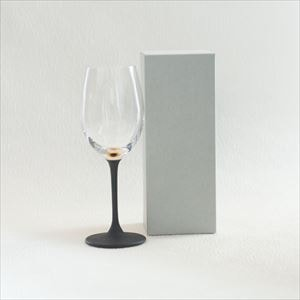 Lacquer colored wine glass / Gold / Toba Shitsugei