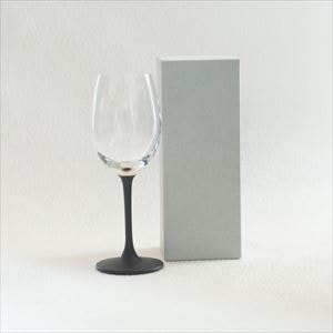 Lacquer colored wine glass / Silver / Toba Shitsugei
