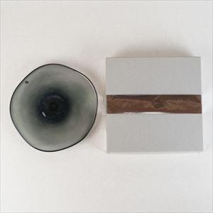 ガラスプレート/kasumi plate S grey/fresco