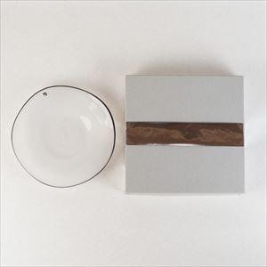 ガラスプレート/kasumi plate S Ivory/fresco