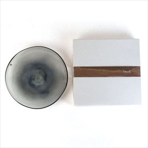 ガラスプレート/kasumi plate M grey/fresco