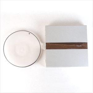 ガラスプレート/kasumi plate M Ivory/fresco