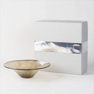 ガラスボウル/kasumi bowl S browngreen/fresco