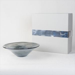 ガラスボウル/kasumi Bowl M grey/fresco