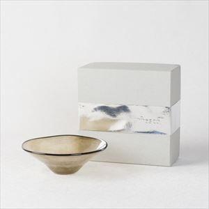 ガラスボウル/kasumi bowl SS browngreen/fresco