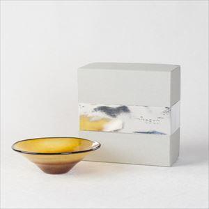 ガラスボウル/kasumi bowl SS brownyellow/fresco
