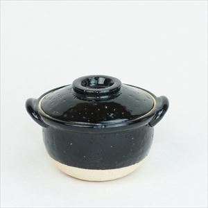 プチ土鍋 ブラック 伊賀焼/長谷園