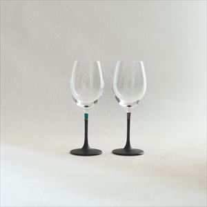 [Set] Pair lacquer colored wine glasses / Green & Purple / Toba Shitsugei_Image_1
