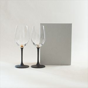 [Set] Pair lacquer colored wine glasses / Gold & Silver /Toba Shitsugei