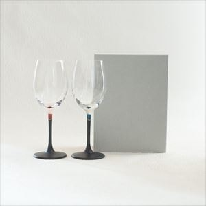 [Set] Pair lacquer colored wine glasses / Red & Blue /Toba Shitsugei