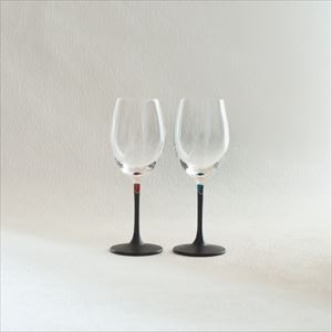 [Set] Pair lacquer colored wine glasses / Red & Blue / Toba Shitsugei_Image_1