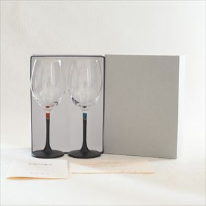 [Set] Pair lacquer colored wine glasses / Red & Blue / Toba Shitsugei_Image_3