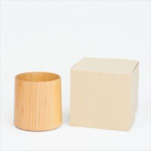 Wooden cup / SAKURA Cylinder / Plain / Gato Mikio Store