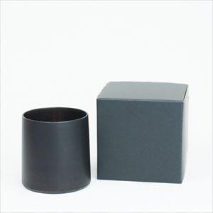 Wooden cup / SAKURA Cylinder / Black / Gato Mikio Store