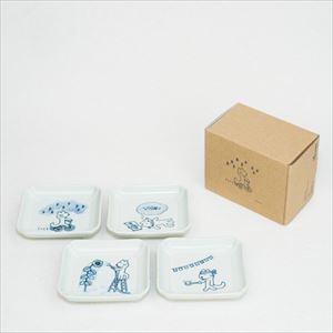 11ぴきのねこ・ねこの豆皿 4種セット空/東屋