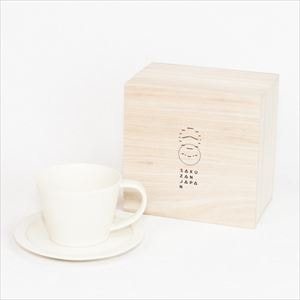 DAYS / Sara Coffee cup & Saucer / Cream / Wooden Box / SAKUZAN