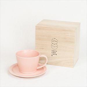DAYS / Sara Coffee cup & Saucer / Pink / Wooden Box / SAKUZAN