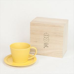DAYS / Sara Coffee cup & Saucer / Yellow / Wooden Box / SAKUZAN