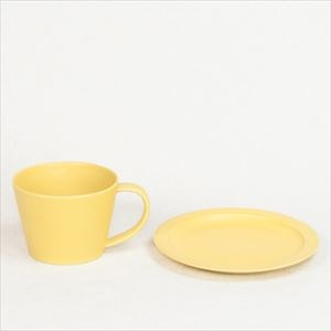 DAYS / Sara Coffee cup & Saucer / Yellow / Wooden Box / SAKUZAN_Image_1