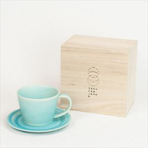 DAYS / Sara Coffee cup & Saucer / Turquoise / Wooden Box / SAKUZAN