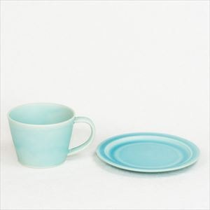 DAYS / Sara Coffee cup & Saucer / Turquoise / Wooden Box / SAKUZAN_Image_1