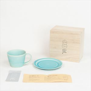 DAYS / Sara Coffee cup & Saucer / Turquoise / Wooden Box / SAKUZAN_Image_3