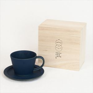 DAYS / Sara Coffee cup & Saucer / Navy / Wooden Box / SAKUZAN