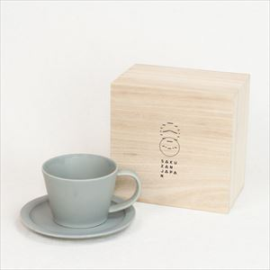 DAYS / Sara Coffee cup & Saucer / Gray / Wooden Box / SAKUZAN
