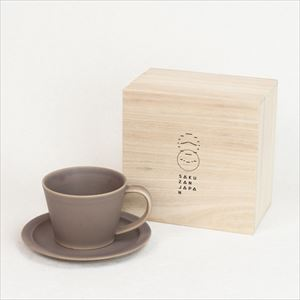 DAYS / Sara Coffee cup & Saucer / Brown / Wooden Box / SAKUZAN