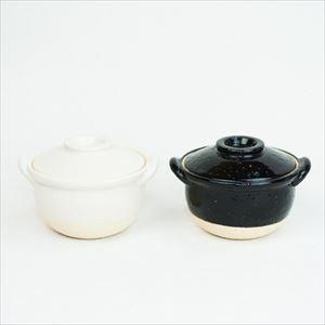 【セット】プチ土鍋 2点セット ホワイト ブラック 伊賀焼/長谷園
