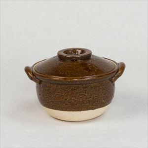 Petite Donabe / Small clay pot / Ame (Brown) / Nagatani-en