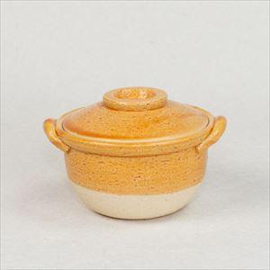 Petite Donabe / Small clay pot / Orange / Nagatani-en