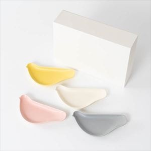 [Set of 4] TORIZARA / Bird plate / Pale colors set/ Floyd