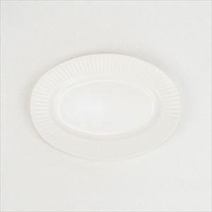 Stripe オーバルプレート ホワイト/SAKUZAN