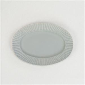 Stripe オーバルプレート グレー/SAKUZAN