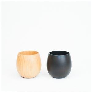 [Set] Wooden cup / SAKURA Egg / Plain & Black / Gato Mikio Store_Image_1