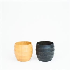 [Set] Wooden cup / WAQWA CUP L / Plain & Black / Gato Mikio Store_Image_1