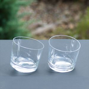 [Set] Pair SLANT GLASS / Whiskey glass / Kimura glass