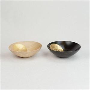 [Set] Pair of Oborozuki bowl / Night moon (Black) & Day moon (Natural) / 6 sun / Hakuichi_Image_1